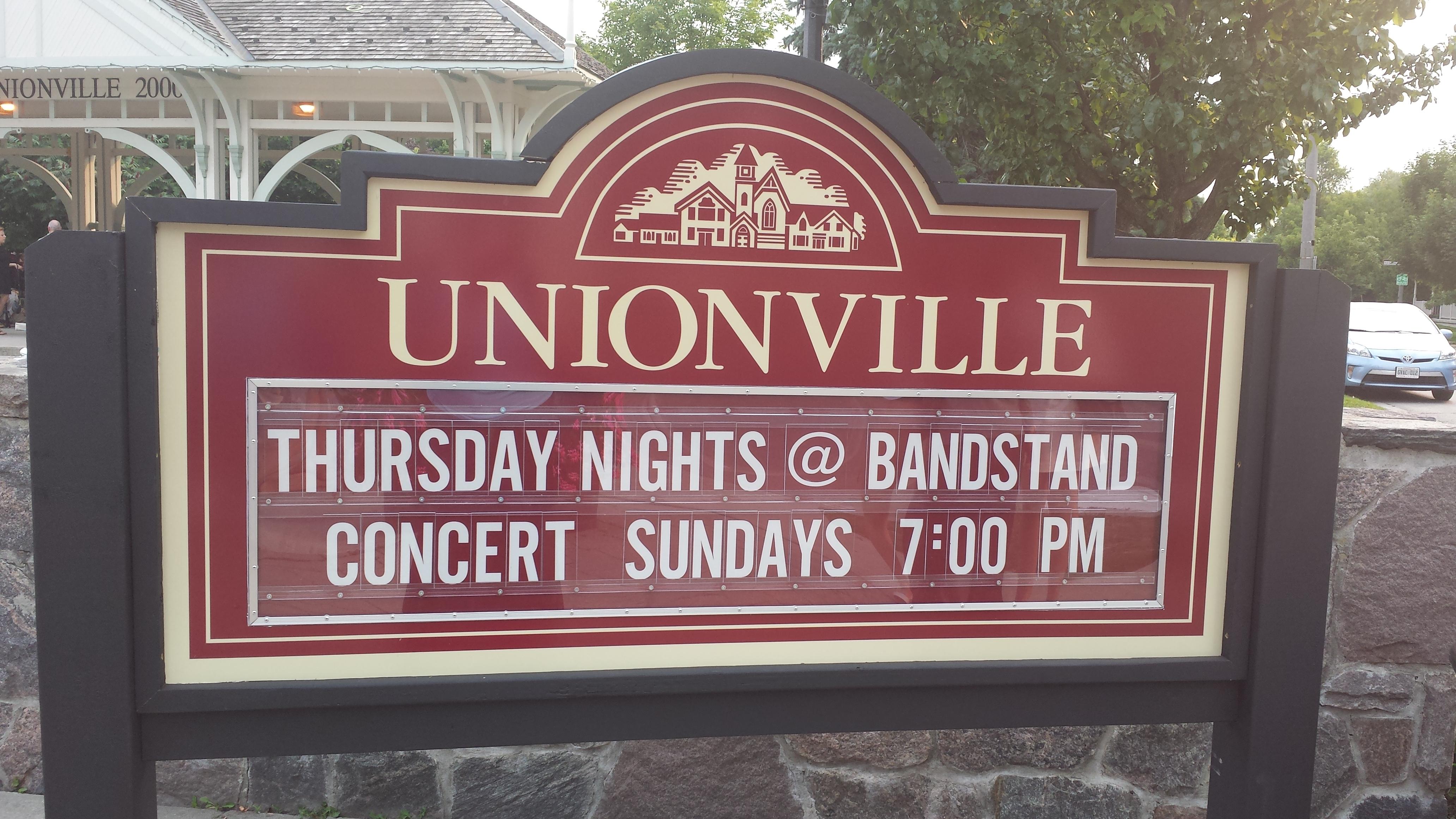 Bandstand sign