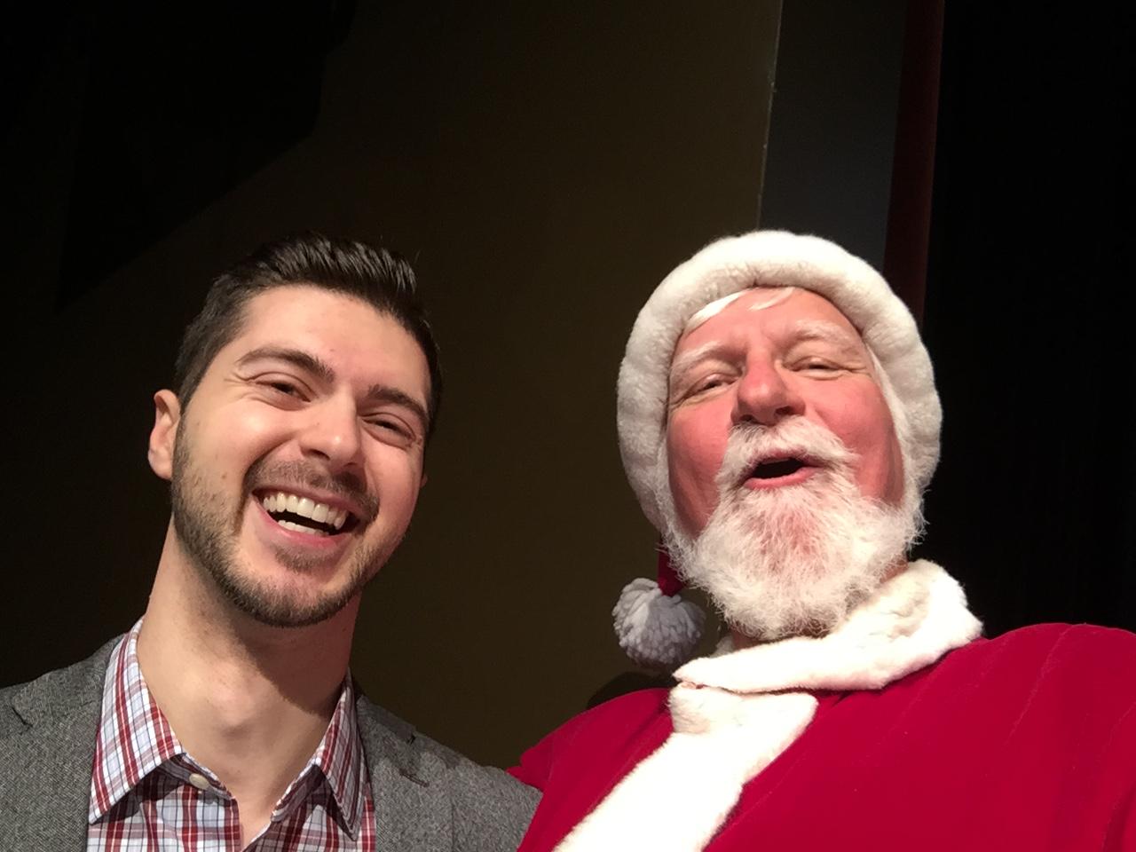 Santa and William